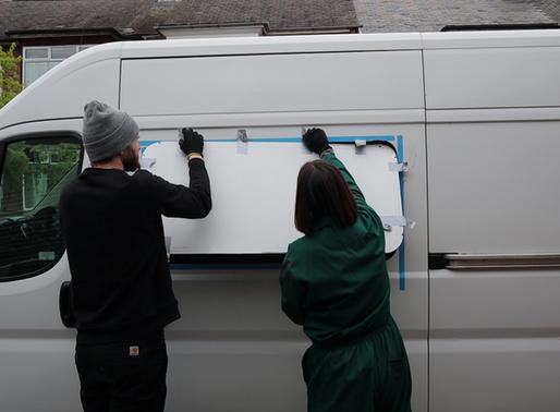 Camper van window fitting - low cost DIY method