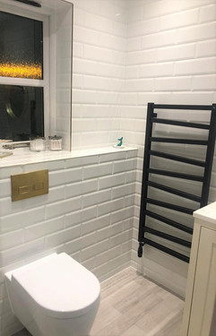 White Metro Tile Bathroom
