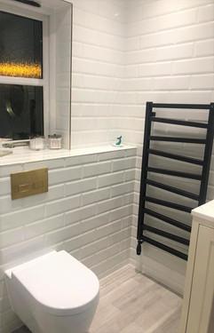 White Metro Tile Bathroom
