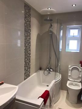 Grey Gloss Tile Bathroom