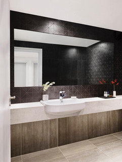 Black Triangular Mosaic Bathroom
