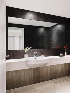 Black Triangular Mosaic Bathroom