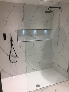Marble Effect Tiles Shower