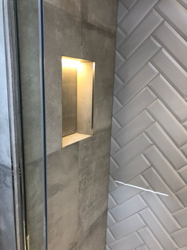 Grey Herringbone Wall Tiles