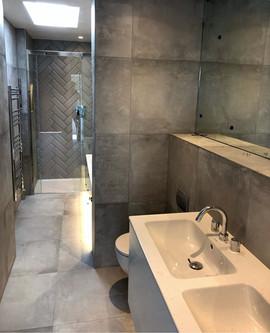 Grey Tile Bathroom