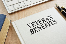 Book about Veteran Benefits on a desk..j