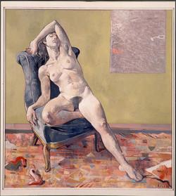 Susanne im grauen Sessel