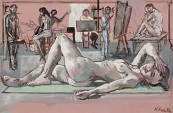 Carolin im Kölner Atelier