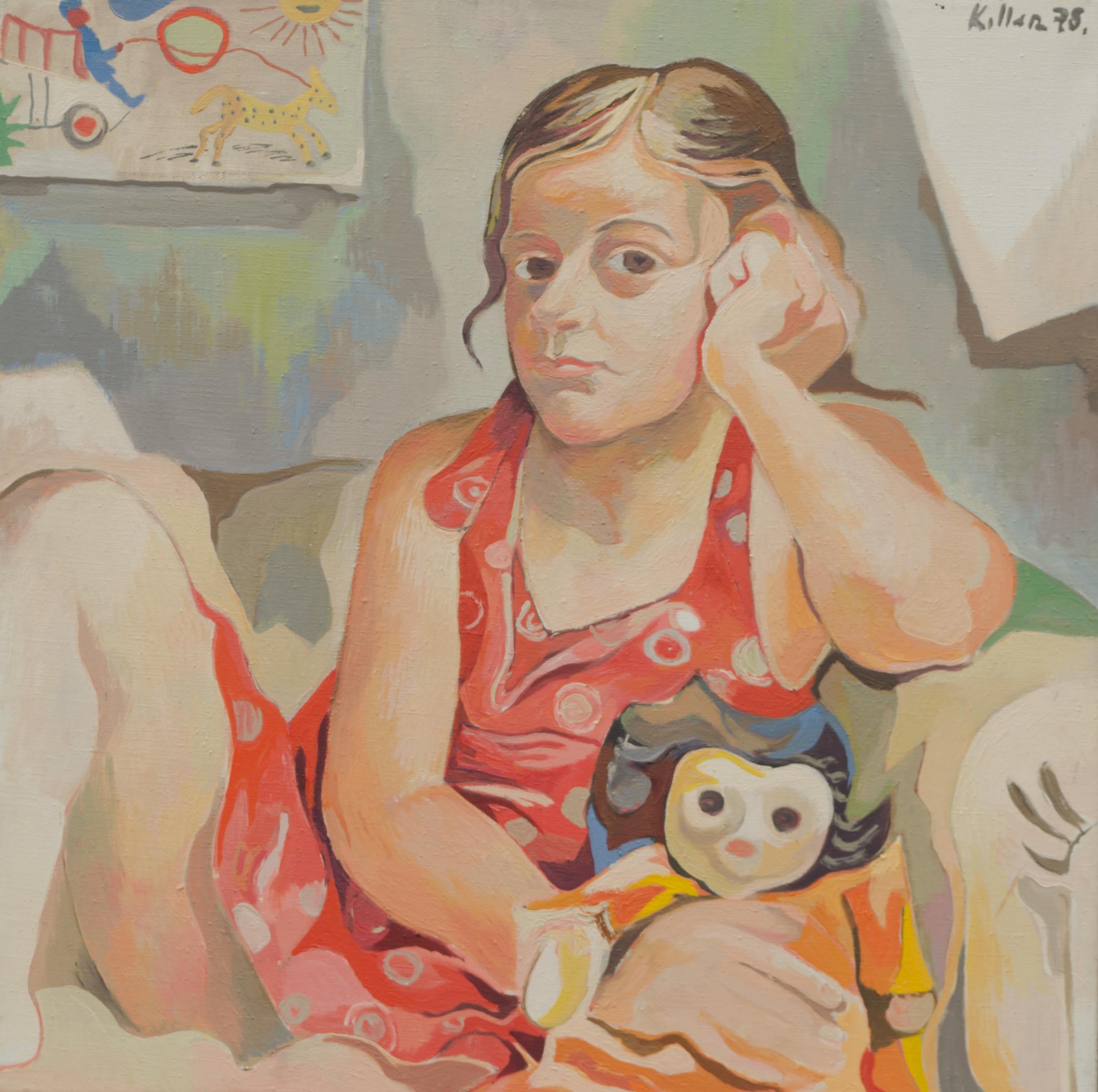 Rebekka mit Puppe Maria