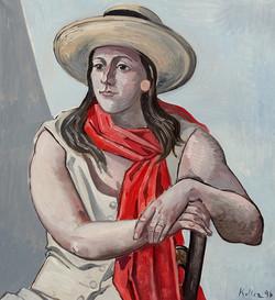 Rebekka mit Hut