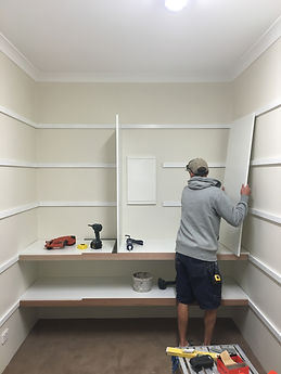 Install shelving to walk in robe