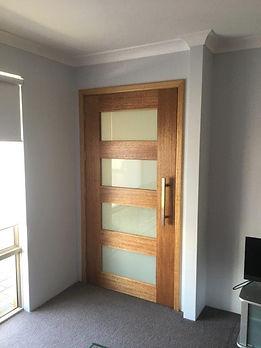 Installation of door to theatre room