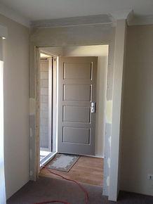 Installation of door surround