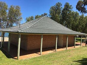 External roof repairs to toilet block