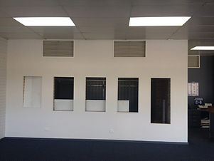 Wall in office prior to renovations