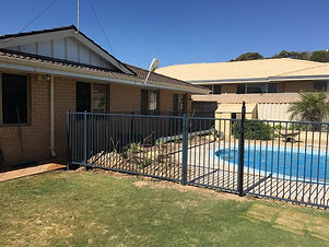 Replacement of pool fencing with new aluminium fence