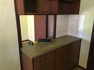 Old kitchen cabinetry