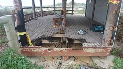 Damaged Gazebo Deck