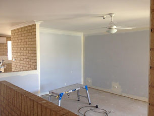 Internal home renovations before painting