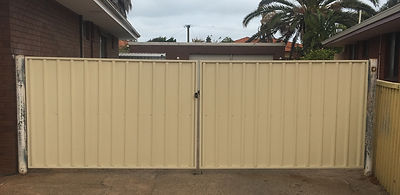 New gates installed and painted