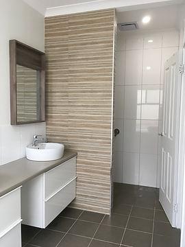 Vanity and tiling bathroom renovation