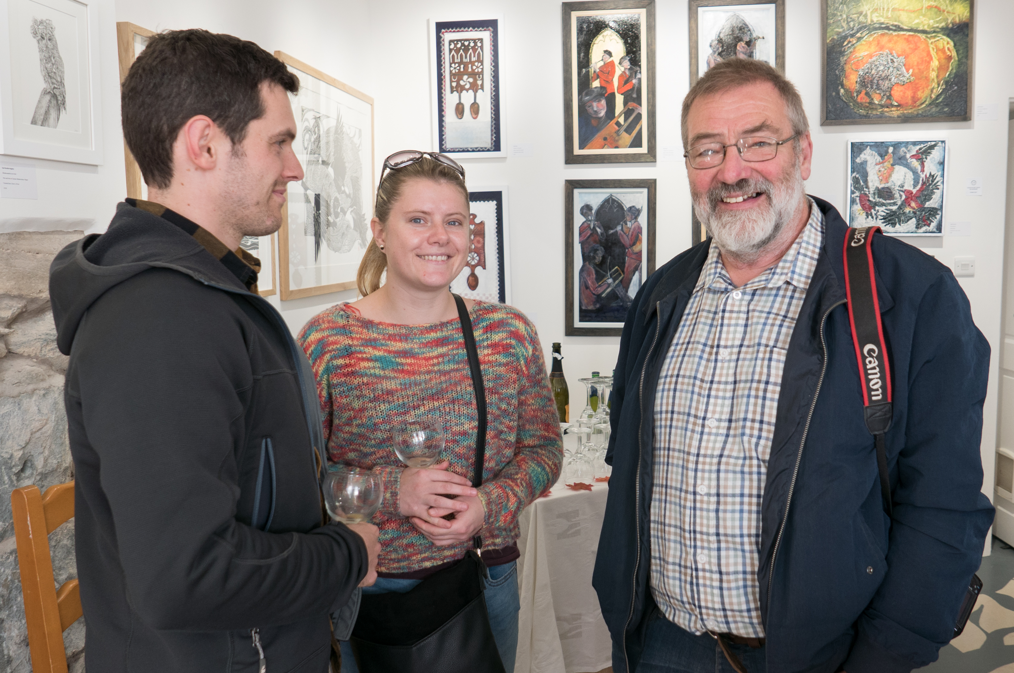 Woodturning artists - Miriam Jones with her partner and Les Symonds