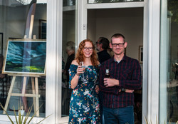 Peter Hedd Williams and me at the grand opening of the gallery