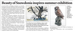 The Flora and Fauna of Snowdonia exhibition featured in the Cambrian News on 22 August 2019