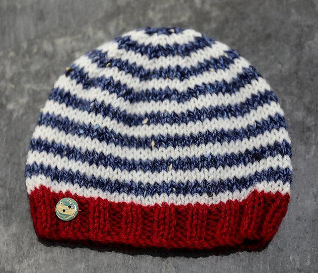 Nautical Striped Hat / Het Stribed Forol