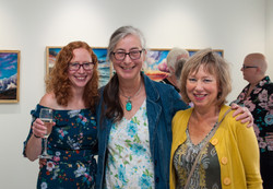 Valerie Land, Wendy McKenzie and me during the exhibition launch