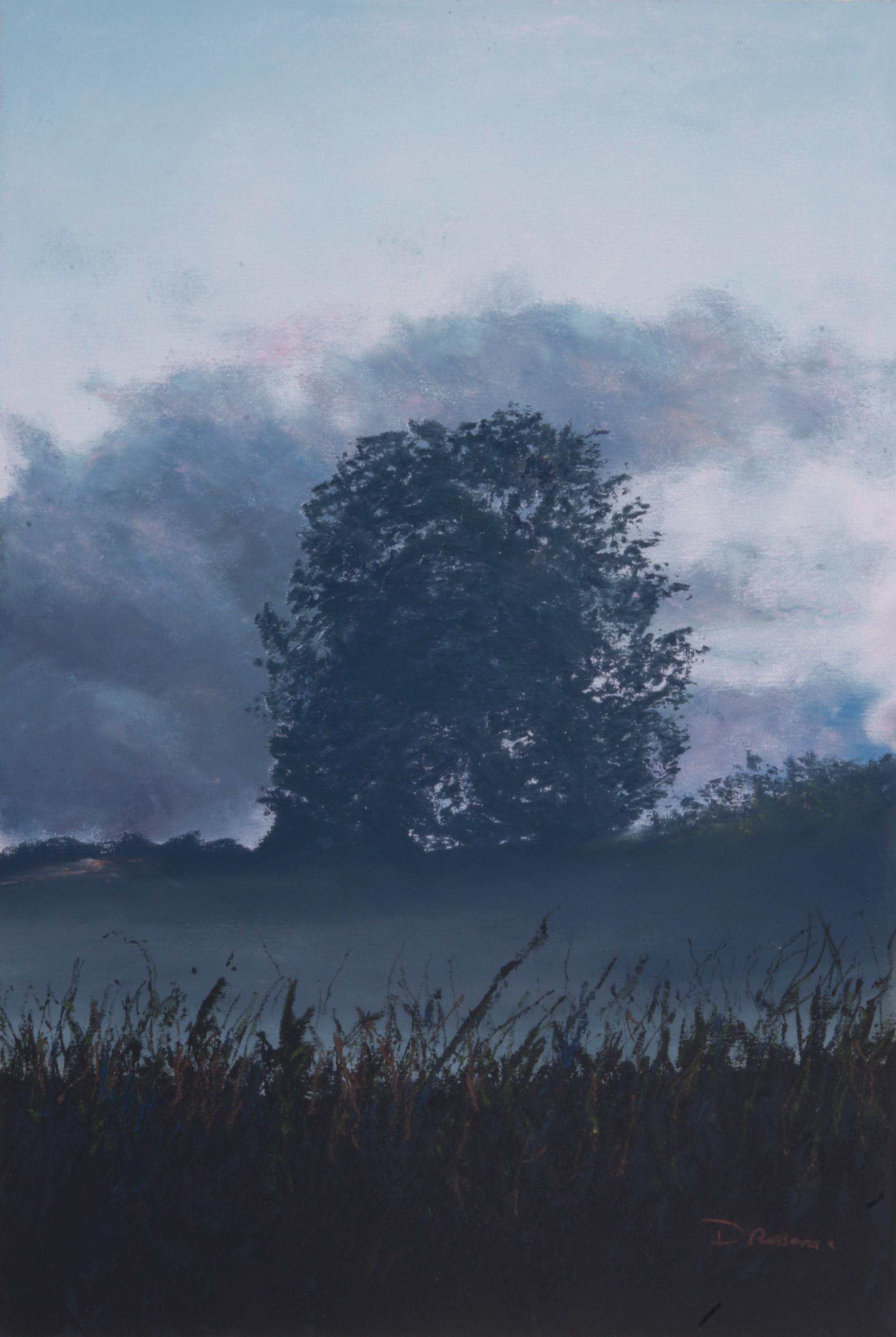 Dave Roberts, Tree at Dusk, £325