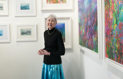 Helen Howlett at the exhibition launch