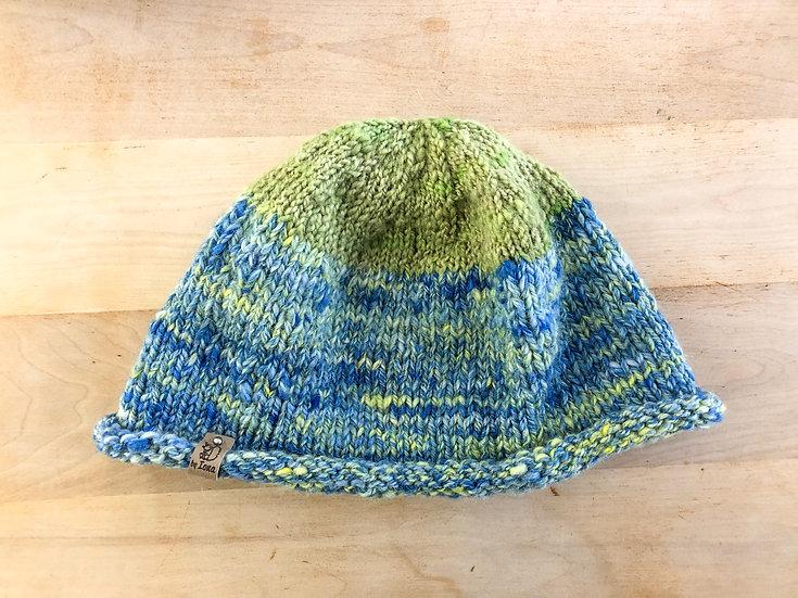 Adult Hat - Green & Blue