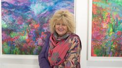 Jan Gardner with her works