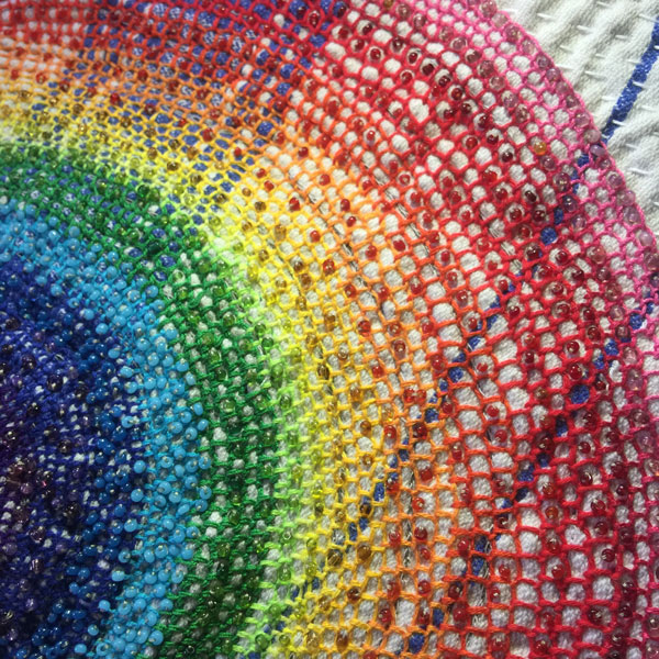 Michèle Heidi Sutton, 'Spiral Rainbow Mandala' - close up