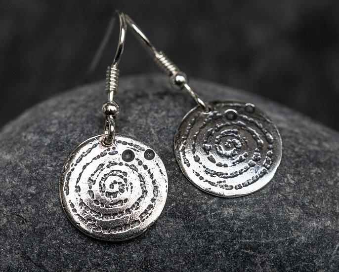 Llanbedr spiral drops oxidised