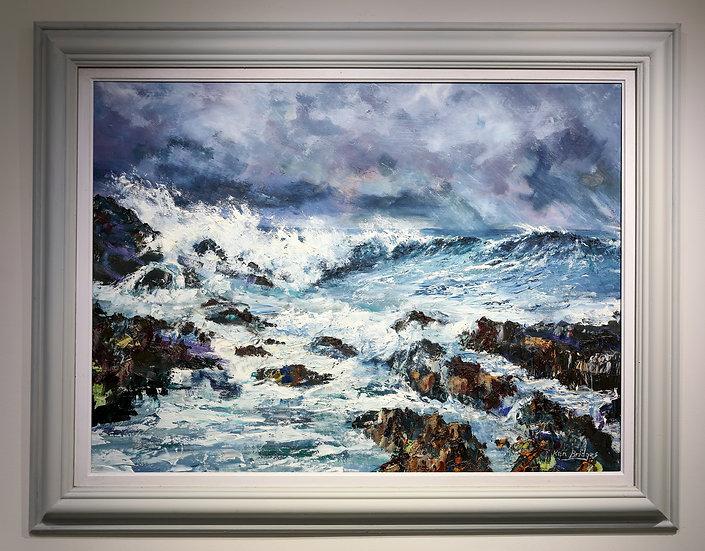 Crashing Surf at Bardsey Island / Ewyn Caswennan