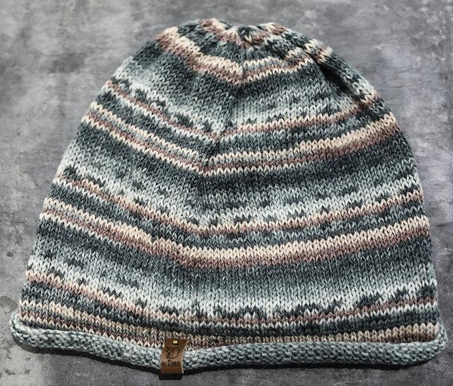 Adult Hat –Grey & Pink/ Het Oedolion – Llwyd a Pinc