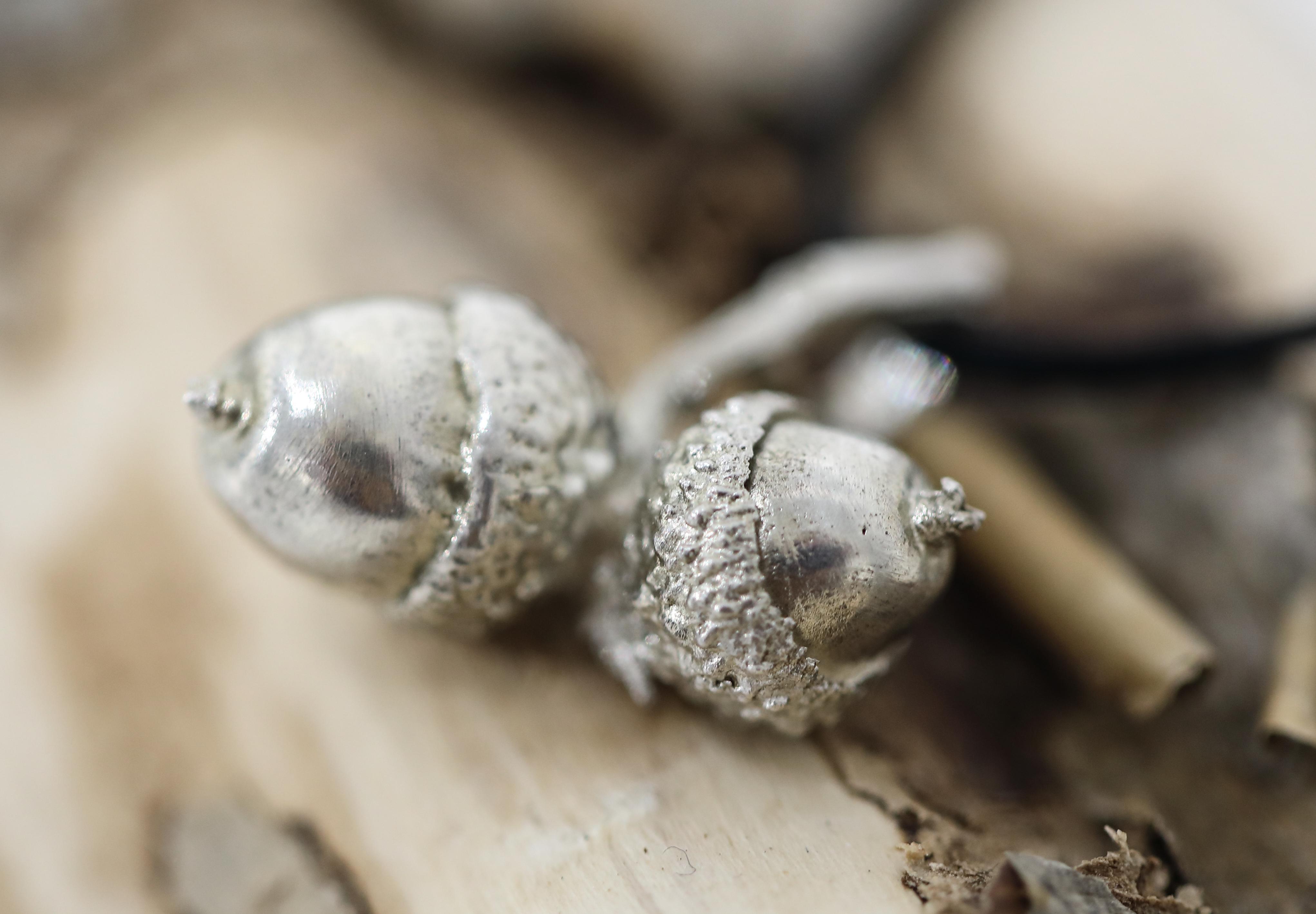 Harri Carmichael. Acorn Silver Pendant. SOLD