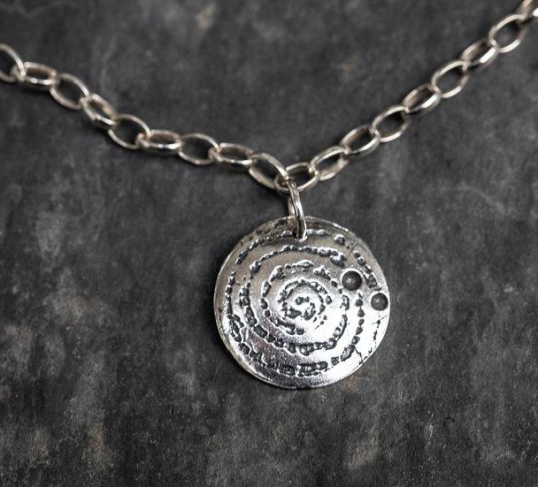 Llanbedr spiral bracelet oxidised