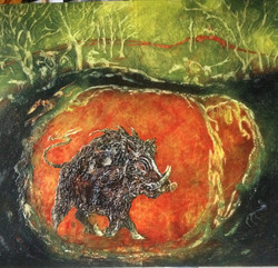 Judith Harrison - The Hunting of Ysgithrwym - SOLD