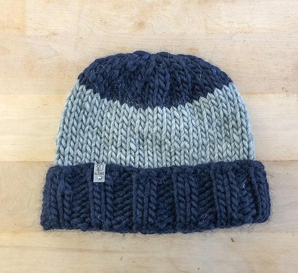 Adult Hat - Grey and Dark Blue
