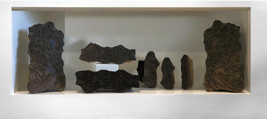 oil rubbed teak carvings