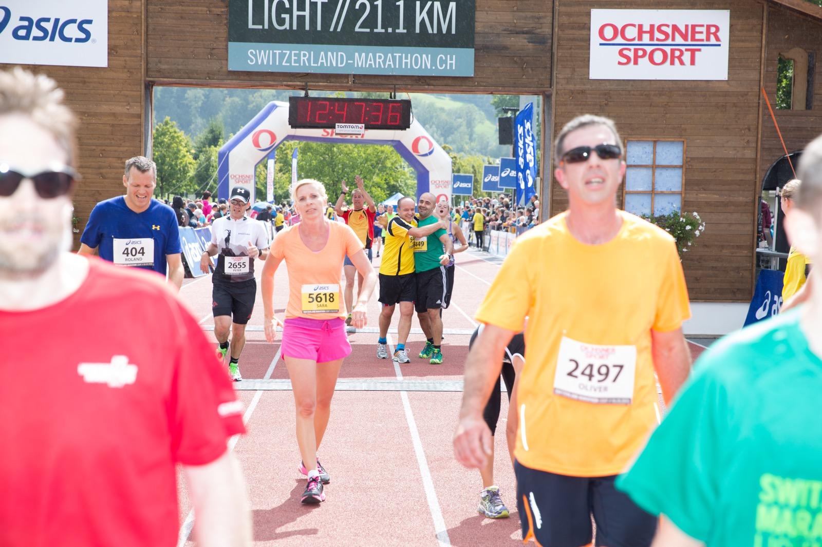 Einlauf Marathon