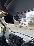 In cab colur monitor