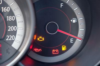 Tracker Shows dashboard warning lights