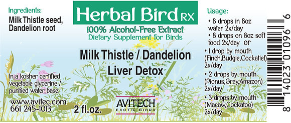 Milk Thistle Dandelion Extract 1 oz (Expires 9/19)
