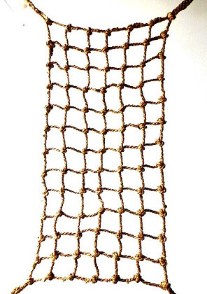 "Aronico Cargo Net, 4' x 4', 1"" rope, 7"" square holes, 4 rings"