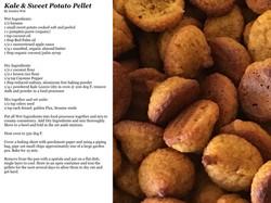 Kale and Sweet Potato Pellet