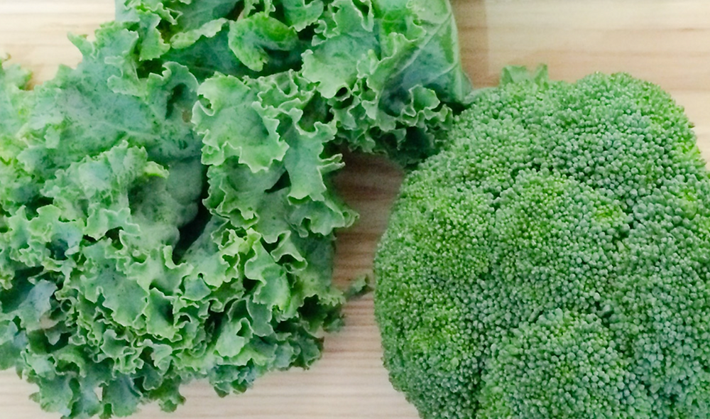 kale and broccoli